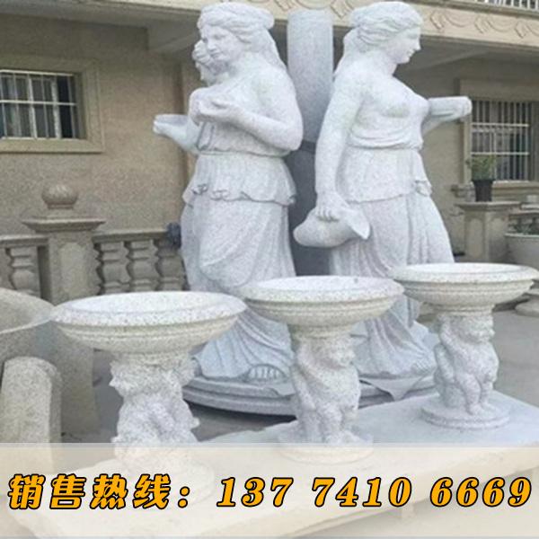 异形花岗岩白麻人物雕刻